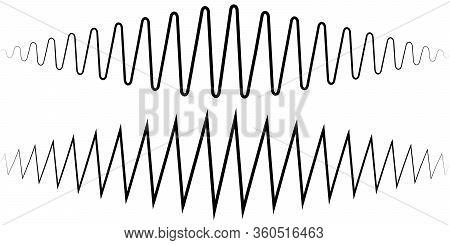 Audio Sound Wave. Sound Wave Amplitude Tattoo Voice Recording, Music Audio Icon, Equalizer, Radio Lo