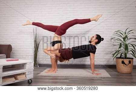 Shoulder Stand On Thighs