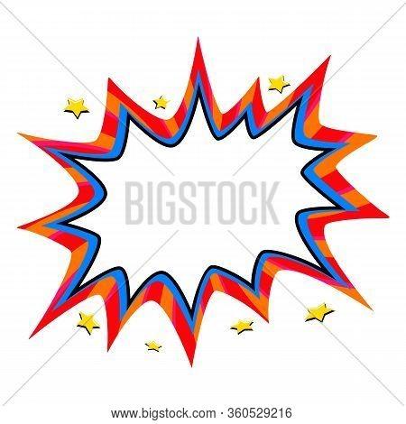 Pop Art Speech Bubble Template For Your Design. Comics Style Pop-art Empty Bang Shape On White Backg