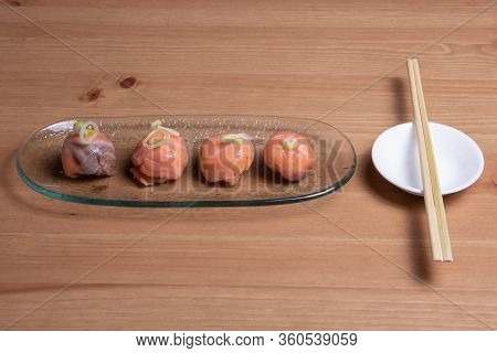 Fusion Dimsum Or Momos Sushi On The Contrary