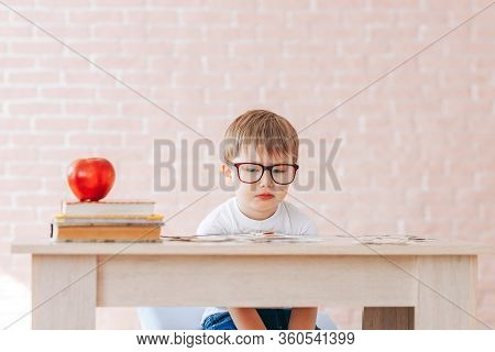 The Child Is Studying At Home, Studying At Home During Quarantine, Educational Games For Children, T