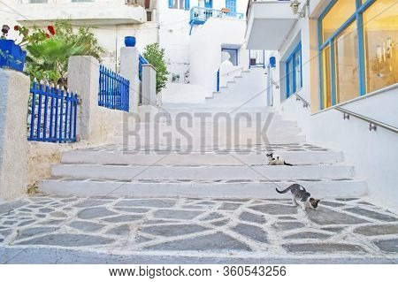 Street Photography Of Naxos Chora Cyclades Greece - The Largest Of The Cyclades Islands Greece