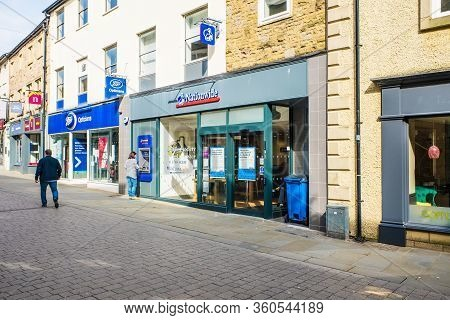 United Kingdom, Lancaster - 9th April 2020 A Branch Of Nationwide. It Is The Uks Largest Mutual Buil