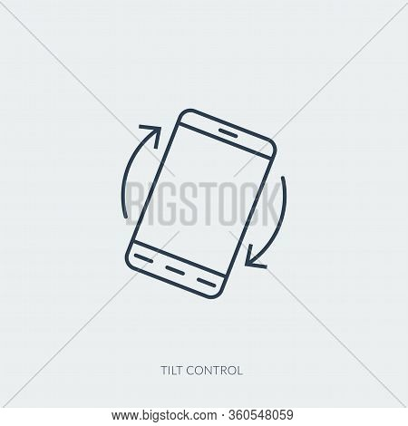 Vector Outline Icon Of Virtual Reality Technology - Tilt Control