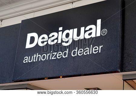 Bordeaux , Aquitaine / France - 02 15 2020 : Desigual Authorized Dealer Logo Shop Sign Spanish Store
