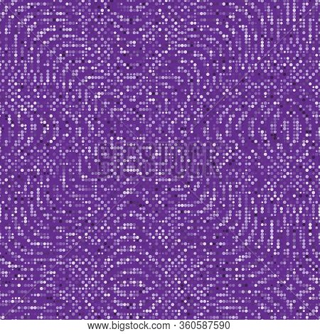 Seamless Dotted Halftone Vector Pattern Or Texture. Stipple Dot Backgrounds With White Circles