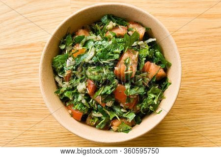 Sri Lankan Style Gotu Kola Salad With Tomatoes