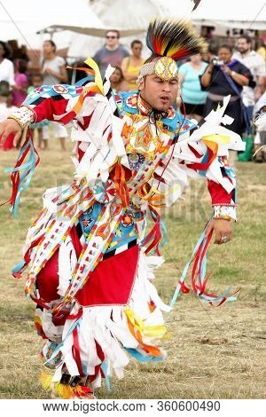 Festival Indian Native  Pow Wow In Brooklyn New York City
