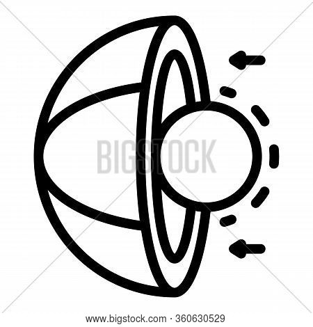 Sectional Core And Planet Icon. Outline Sectional Core And Planet Vector Icon For Web Design Isolate