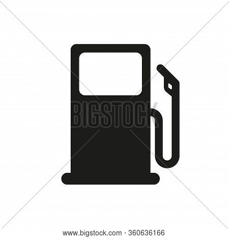 Fuel Vector Isolated Icon. Pictogram Illustration Vector Icon On White Background. Gas Station Icon
