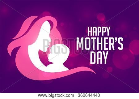 Beautiful Happy Mothers Day Event Card Design