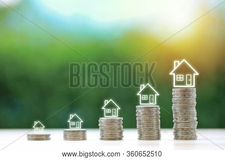 Property Investment And Saving Growth Or Business Financial House Mortgage For Advertising Concept.