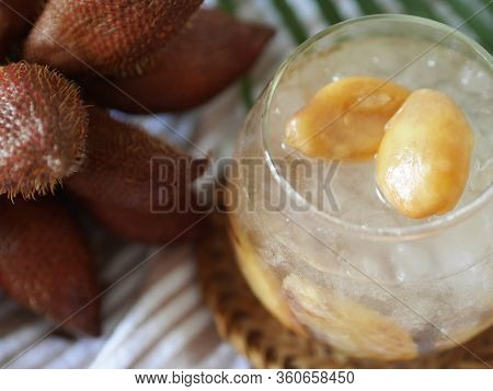 Thai Dessert - Salacca In Syrup (sala Loi Gaew) By Sour And Salty Flavor Of Salacca And Sweet From I