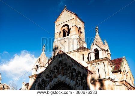 Jak (jaki) Chapel At Vajdahunyad Castle. Budapest, Hungary