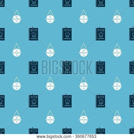 Set Cookbook And Ball Tea Strainer On Seamless Pattern. Vector