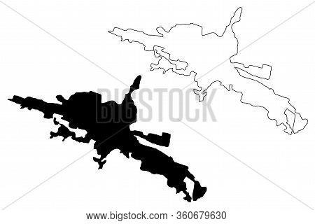 Kutahya City (republic Of Turkey, Aegean Region) Map Vector Illustration, Scribble Sketch City Of Ko
