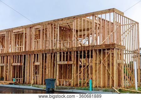 New Construction Of A House Framed New Construction Of A House Building A New House From The Ground
