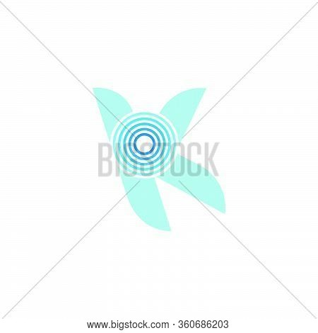 Abstract Letter Yk Stripes Motion Geometric Gradient Logo Vector