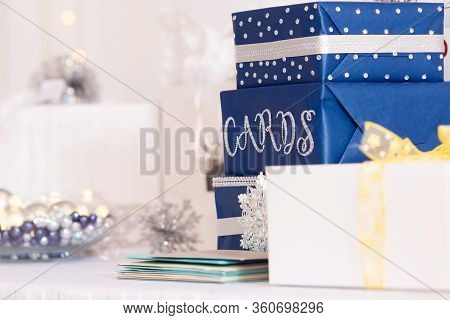 Card And Gift Table At Wedding Or Event