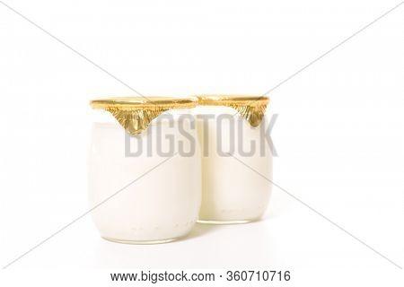 yogurt isolated on white background