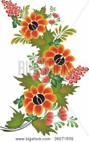 vector flower pattern on white background