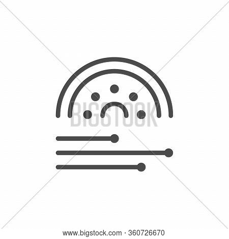 Optical Fiber Line Outline Icon Isolated On White. Internet Cable. Port, Connector, Network. Hardwar
