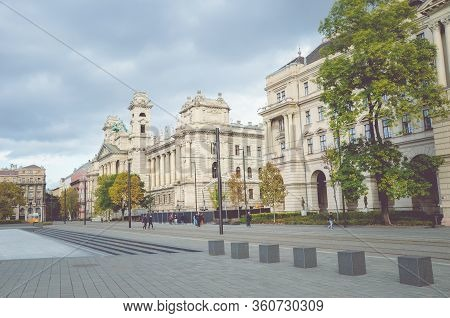 Budapest, Hungary - Nov 6, 2019: Museum Of Ethnography And Ministry Of Agriculture Building From The