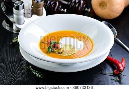 Thick Pumpkin Soup Lenten Menu Mashed Carrot Soup.