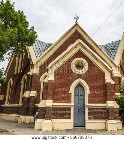 Lateral View Of The Former St Andrew Presbyterian Church Built In 1886 In The Country Town Of Bairns