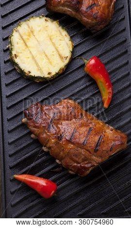 Grilled Pork Ribs On Griddle