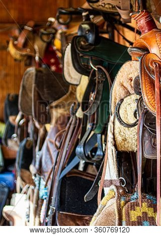 Pictures Of Miscellaneous Tack In A Barn Tack Room