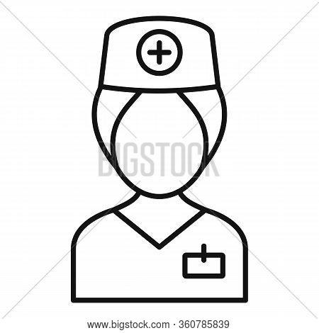 Surgeon Nurse Icon. Outline Surgeon Nurse Vector Icon For Web Design Isolated On White Background