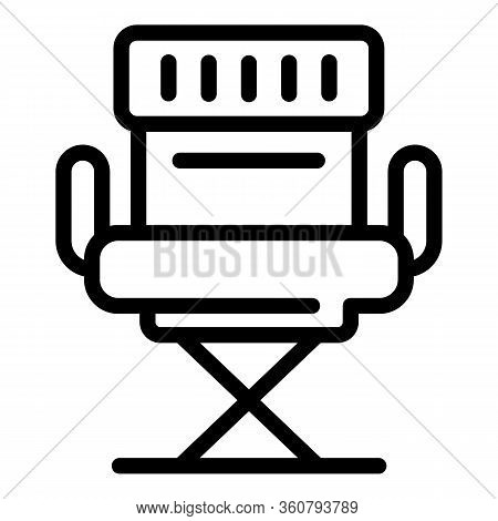 Stage Director Chain Icon. Outline Stage Director Chain Vector Icon For Web Design Isolated On White