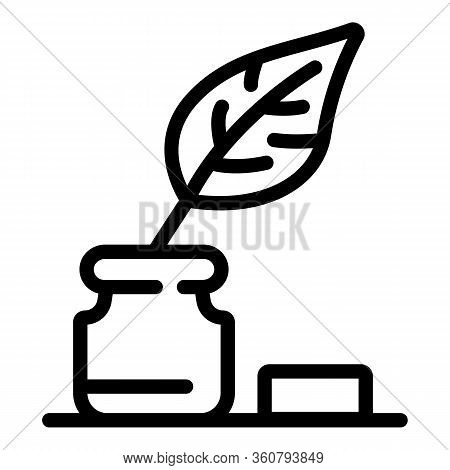 Writer Tools Icon. Outline Writer Tools Vector Icon For Web Design Isolated On White Background