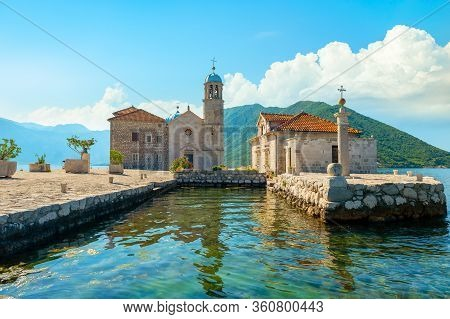 Church Of Our Lady Of The Rocks On Island Near Town Perast, Kotor Bay, Montenegro