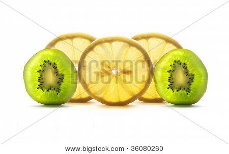 Lemon and kiwi