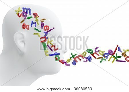 Person and letters