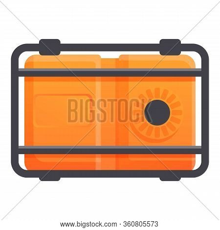 Gasoline Generator Icon. Cartoon Of Gasoline Generator Vector Icon For Web Design Isolated On White