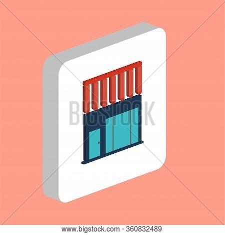 Store, Shop Simple Vector Icon. Illustration Symbol Design Template For Web Mobile Ui Element. Perfe