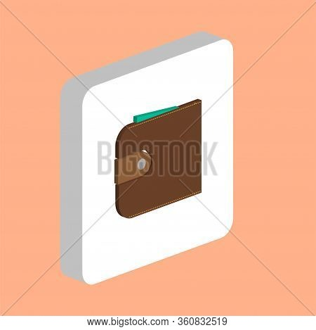 Wallet, Purse Simple Vector Icon. Illustration Symbol Design Template For Web Mobile Ui Element. Per