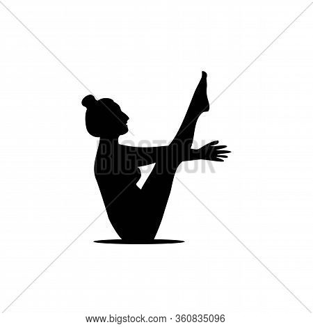 Girl Yoga Or Pilates Silhouette Logo Vector