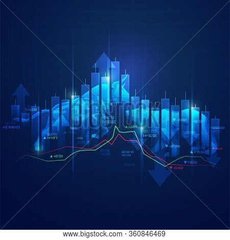 Stock Market Exchange Concept, Online Trading Technology