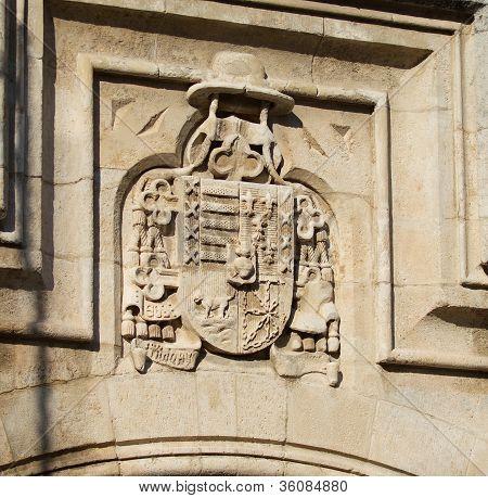 Shield Of Castilla Y Le�n In Burgos Cathedral. Spain