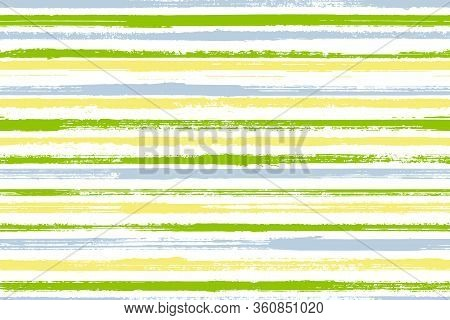 Watercolor Brush Stroke Rough Stripes Vector Seamless Pattern. Traditional Gift Wrapping Paper Desig