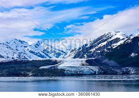 Hubbard Glacier Is The Largest Of Eight Calving Glaciers In Alaska