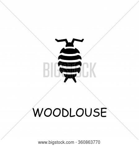 Woodlouse Flat Vector Icon. Hand Drawn Style Design Illustrations.