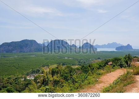 Phuket, Thailand.sunrise At Samet Nangshe Viewpoint The New Unseen Tourism, Phang Nga Bay National P