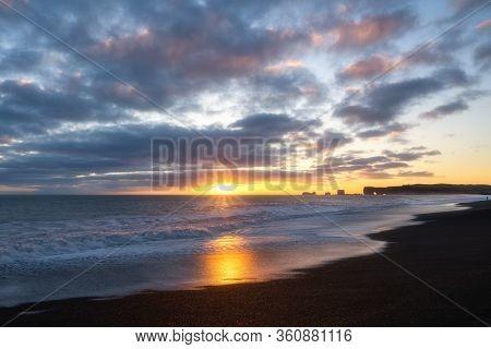 Iceland Winter, Iceland Black Beach, Vik Village, Sunset In Iceland