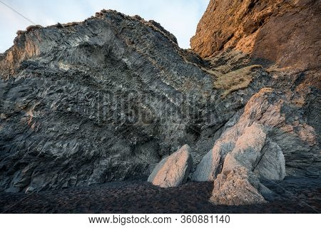 Trolls Fingers Rock, Vik Village, Sunset In Iceland, Iceland Winter