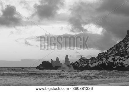 Iceland Winter, Trolls Fingers Rock, Vik Village, Sunrise In Iceland, Black Beach In Iceland
